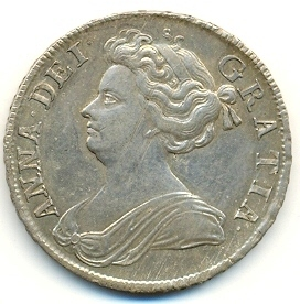 Queen Anne in the form of currency